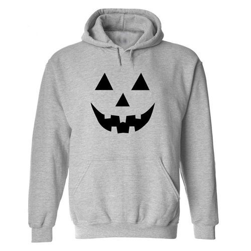 6452f183627 Generic Men Halloween Long Sleeve Print Letter Hoodie Hooded Sweatshirt  Tops Jacket Coat- Gray