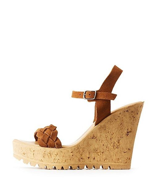 ae8d682e68e Charlotte Russe Bamboo Faux Suede Wedge Sandal