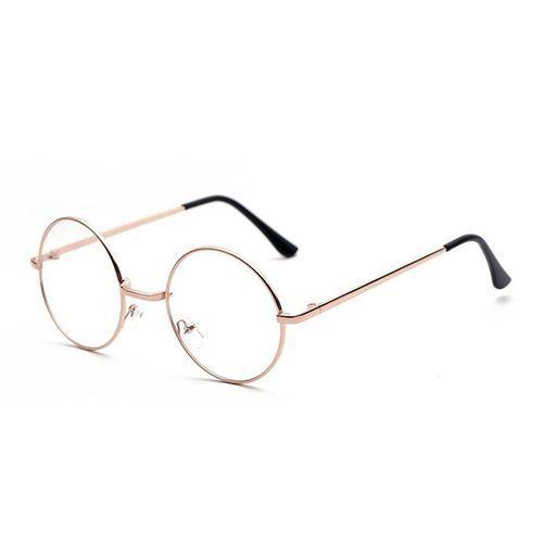 f2cb9fc698 Buy Fashion Metal Round Decorative Mirror Harajuku Men And Women Models Plain  Glasses - Gold in
