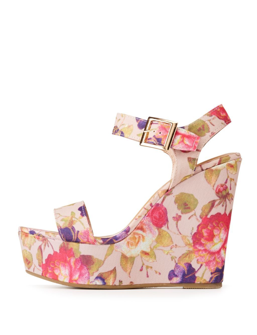 8a4dcb52aa7 Buy Charlotte Russe Bamboo Floral Wedge Sandals in Egypt