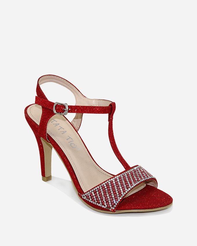 Tata Tio Heeled Sandals - Red