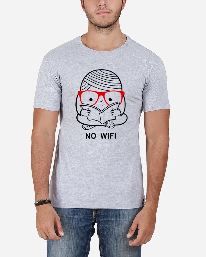 Marley Round Neck No-Wifi T-shirt – Grey