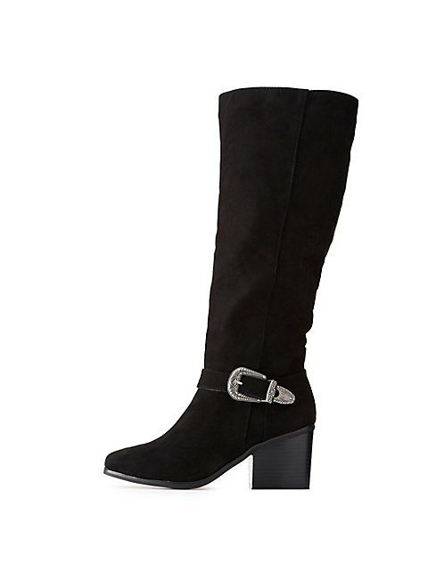 dea217e2ae Charlotte Russe Bamboo Western Buckled Over-The-Knee Boots Price in ...