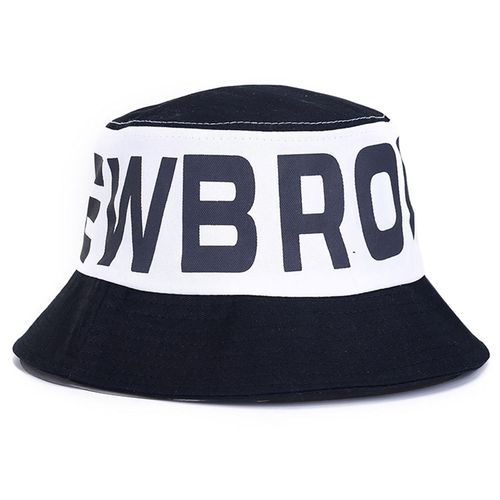 9ea8d9370cc Best One Unisex Big Brim Fisherman Hat Casual Foldable Printing Couple Beach  Hat Color Black