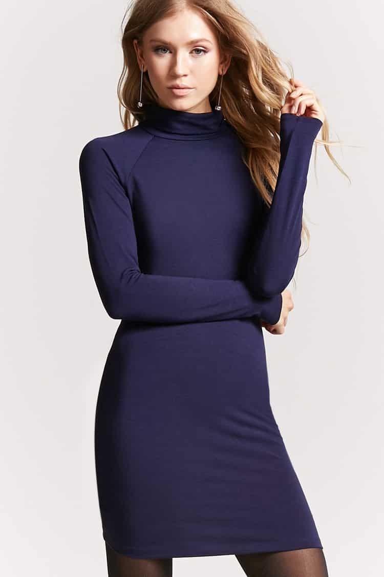 2a6e69c1f3e6 Buy Forever21 Turtleneck Bodycon Dress in Egypt