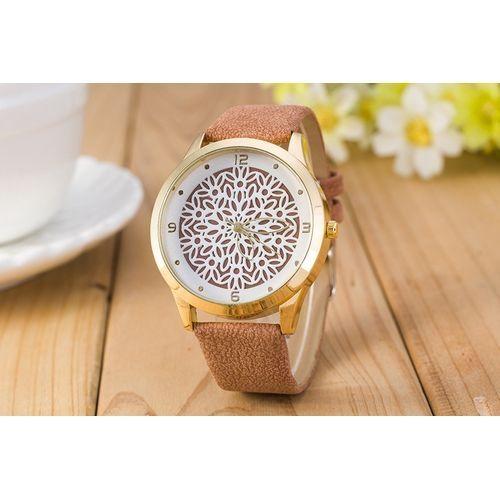 Generic Women Quartz Watch Hollow Pattern Personality Pointer Watch