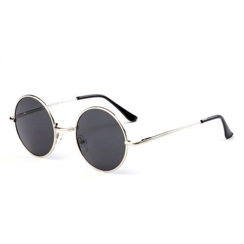 1d855fc1e Fashion Metal Round Frame Unisex Polarized Sunglasses - Silver Frame+Grey  Lens