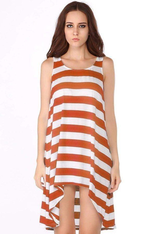 f90cea3b8e5 Buy Sunweb Girls  Stripe Dresses Sleeveless Beach Dress Orange in Egypt
