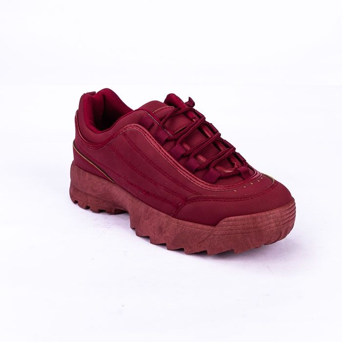491065ad0 سعر Joy & Roy Casual Shoe Chunky Sneakers - BURGUNDY فى مصر | جوميا ...