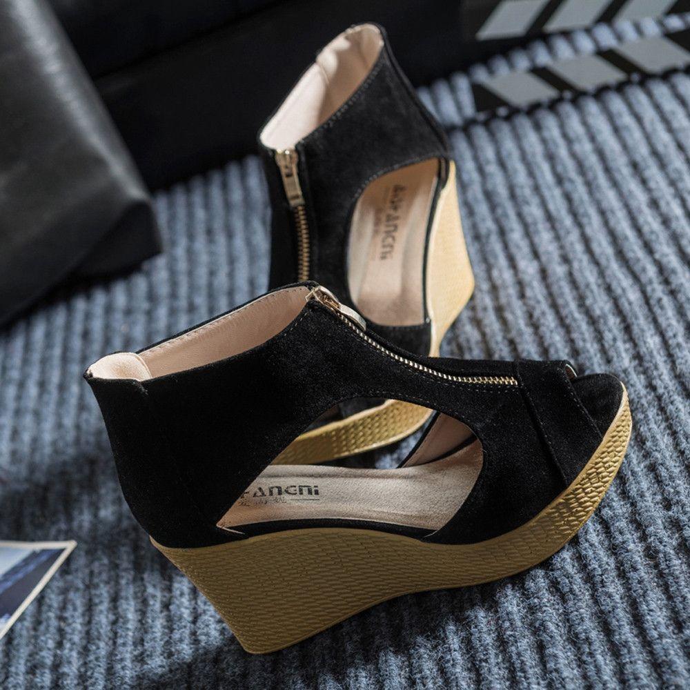 2105c2c174e Generic Tectores Women Shoes Summer Sandals Casual Peep Toe Platform Wedges  Sandals Shoes Gift