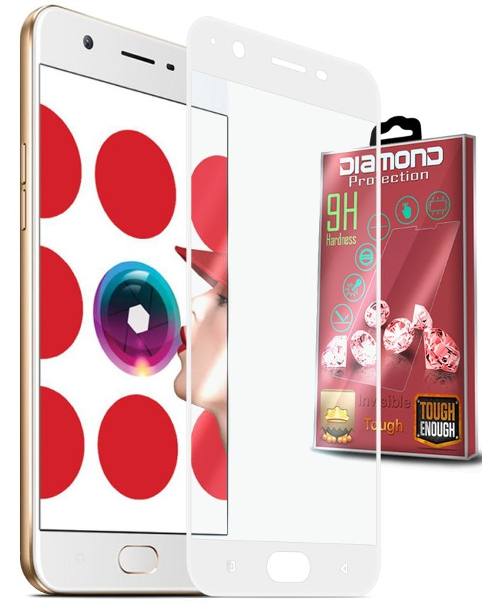 Diamond Real Curved Glass Screen Protector For OPPO A57