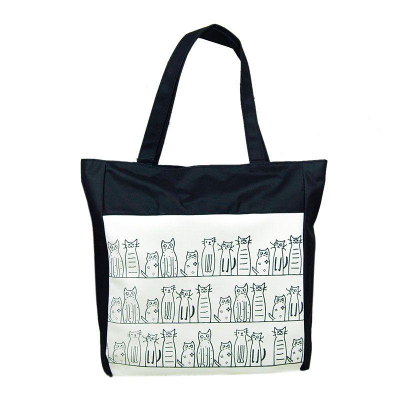 336c78f2d197 Buy Generic Fashion Canvas Cartoon Cat Pattern Girls Shopping Shoulder Bags  Handbag Beach in Egypt