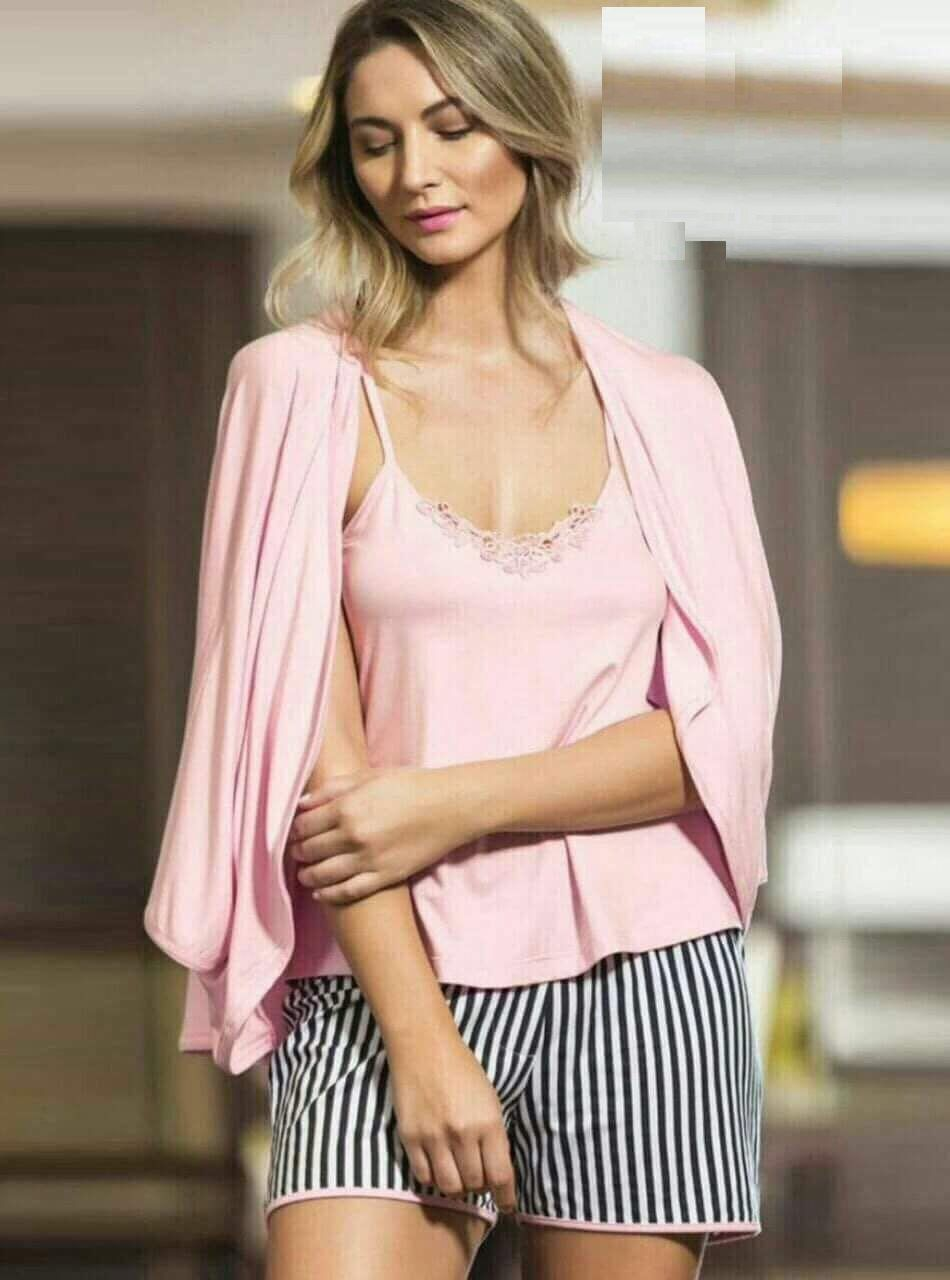 a749ca715b14 No Brand Striped Cotton Hot Short Pajama - Pink Price in Egypt ...