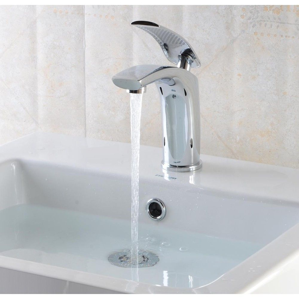 Universal Luxury Brass Basin Sink Bathroom Faucet Single Level ...