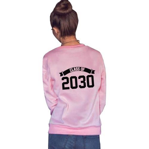 3119344e5b1 Fashion 1 Pcs Women And Man Class Of 2030 Letter Print Long Sleeve T-Shirt  Top Blouse Couple Shirt