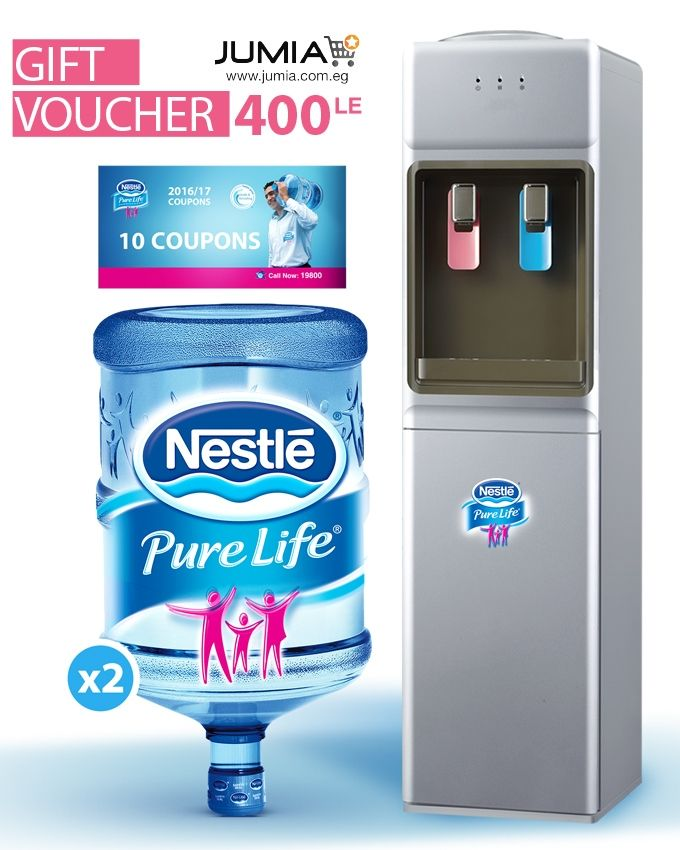 40df5f2d55 Nestlé Pure Life FW-14BF Hot & Cold Water Dispenser - Silver + 2 ...