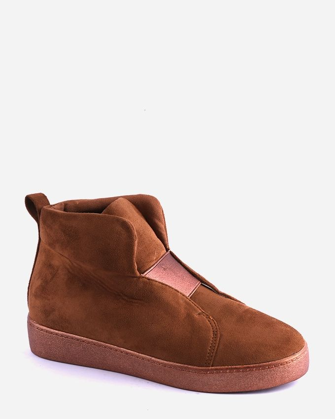 Joelle Suede Ankle Boots - Camel