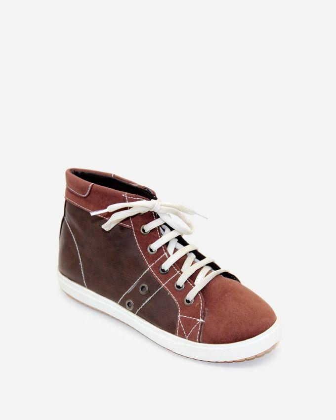 Tata Tio Women Hi-Top Sneakers - Brown