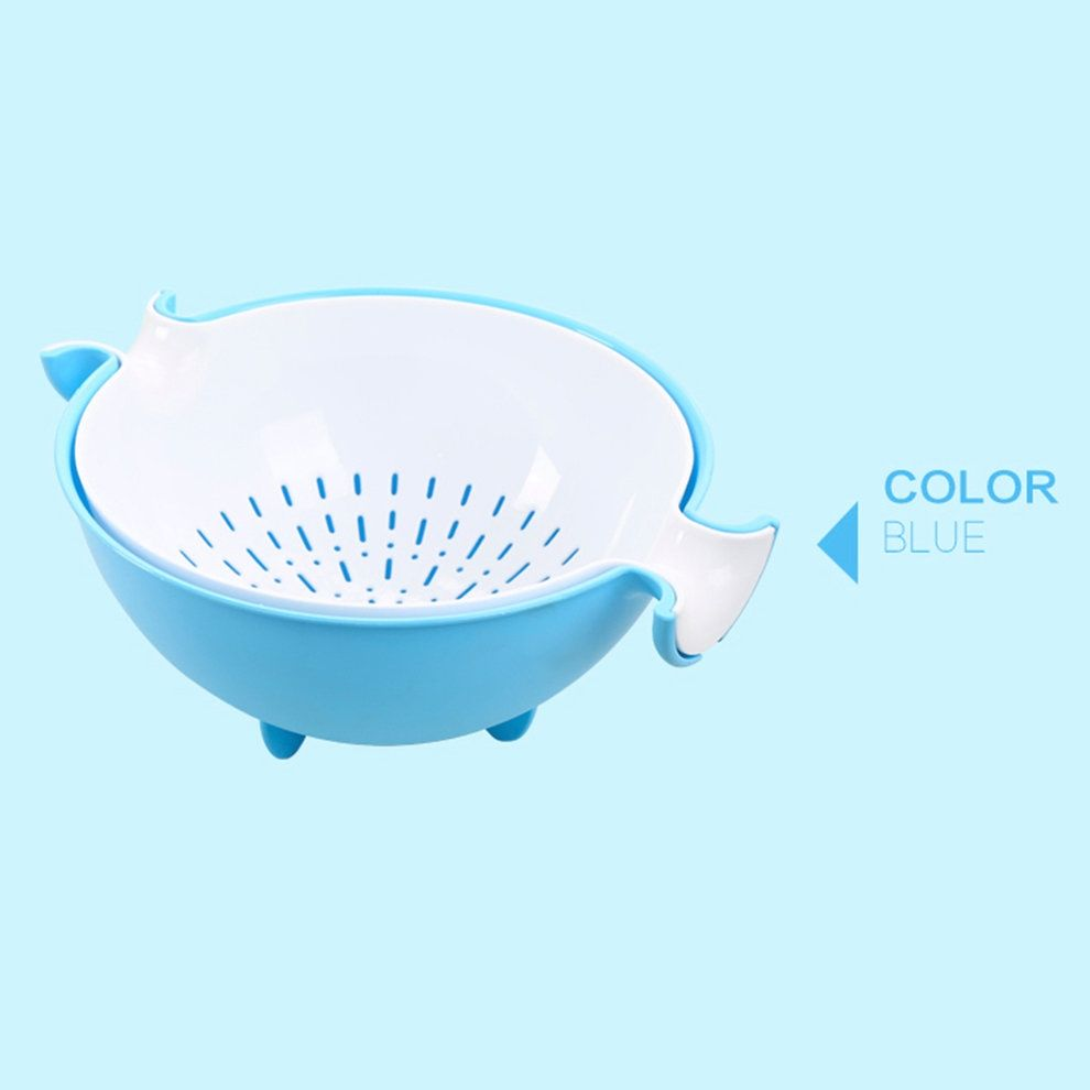 Kokobuy Double Layer Simple Kitchen Plastic Drain Basket Fruit ...