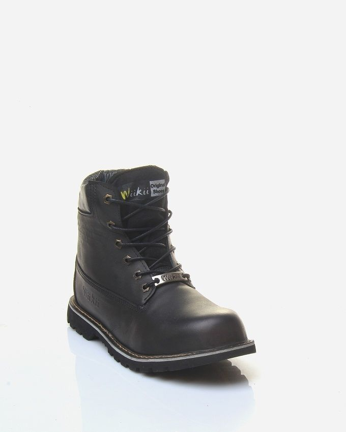 7b9e50824c9 WiiKii Safety Leather Boots - Black Price in Egypt   Jumia   Shoes ...
