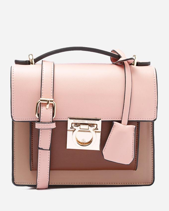 e1e81537812ba Shoe Room Leather Cross Body Bag - Pink