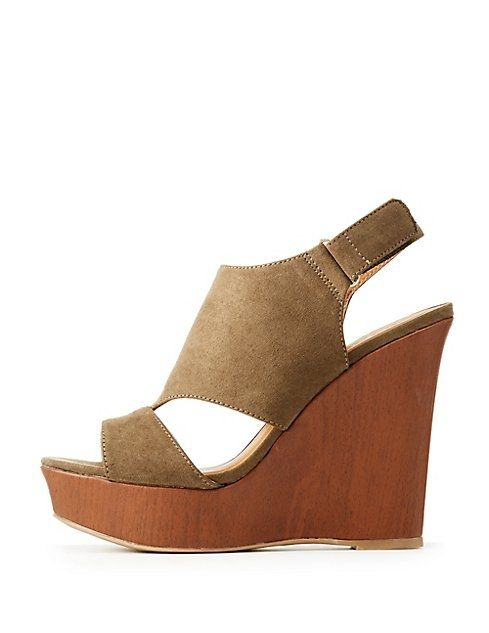 73668cbce82 Charlotte Russe Peep Toe Wedge Sandals Price in Egypt