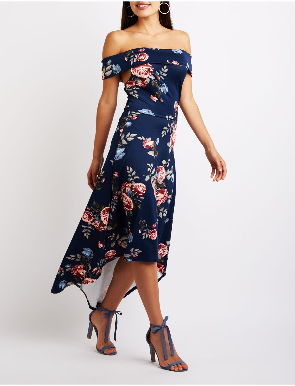 67fe6abc2e Charlotte Russe Floral Off The Shoulder Maxi Dress Price in Egypt ...
