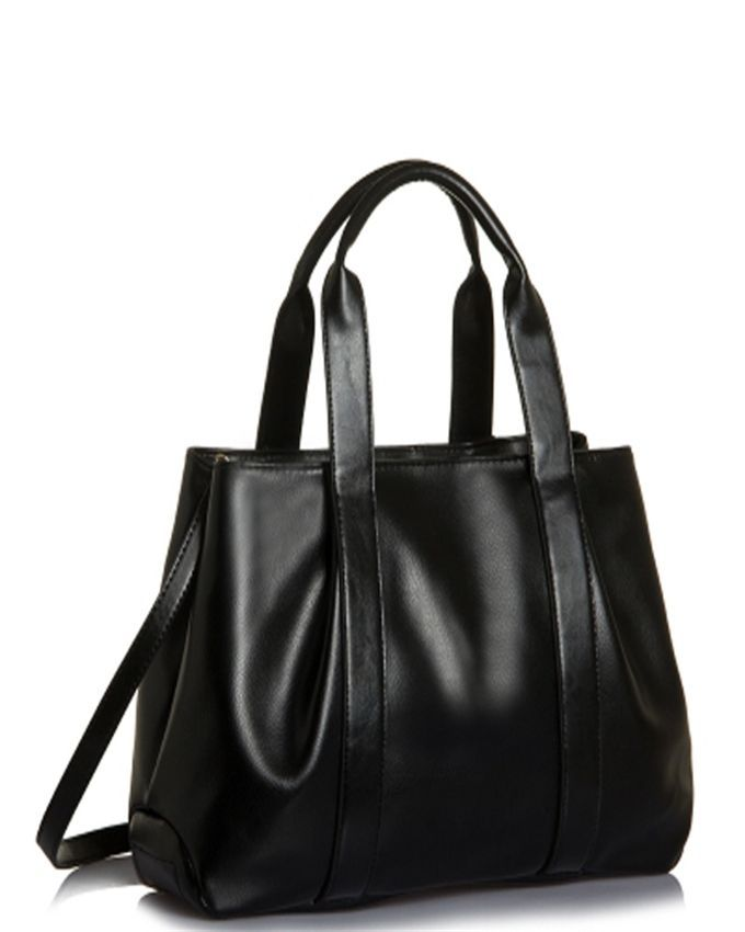 Neworldline Luxury Women Leather Handbag Crossbody Shoulder Messenger Bag Large Tote -Black