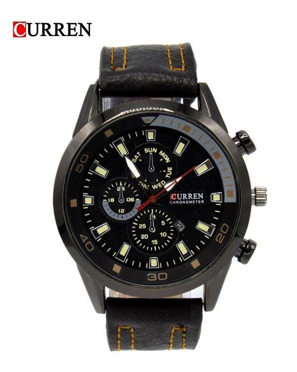 8ff579c405d Curren CURREN Male Quartz Watch Calendar Chronograph Men Wristwatch-Black