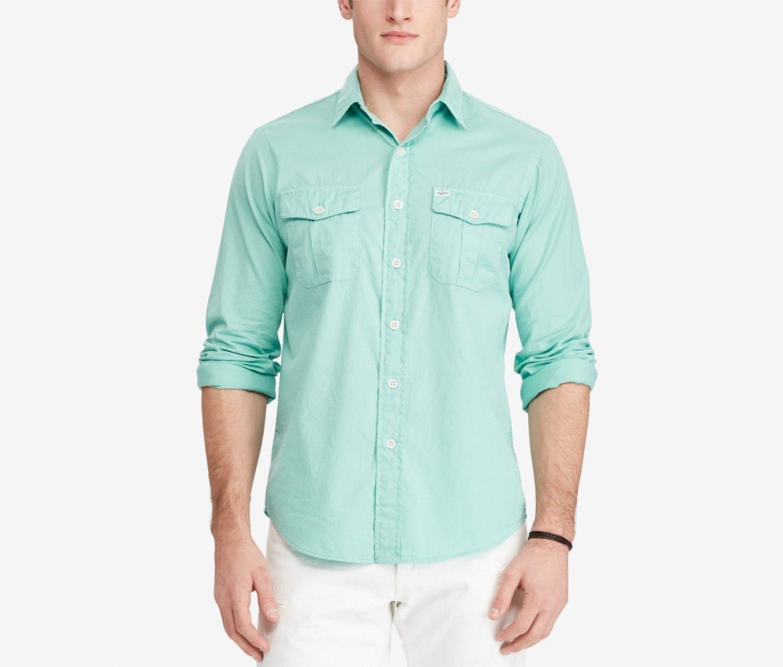 91ab7fcfc Brands Liquidation Polo Ralph Lauren Men's Beach Twill Shirt, Green ...