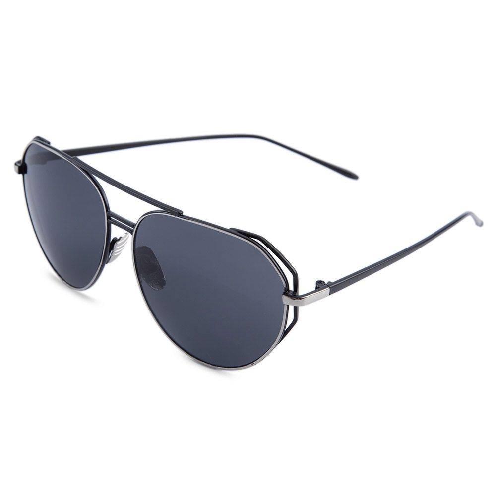 648f1354c21a Generic Leadsmart Oversize Color Coated Metal Frame Simple Design Sunglasses  for Women
