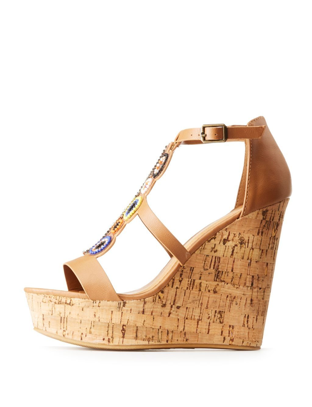 62ad69c3353 Buy Charlotte Russe Bamboo Beaded Wedge Sandals in Egypt