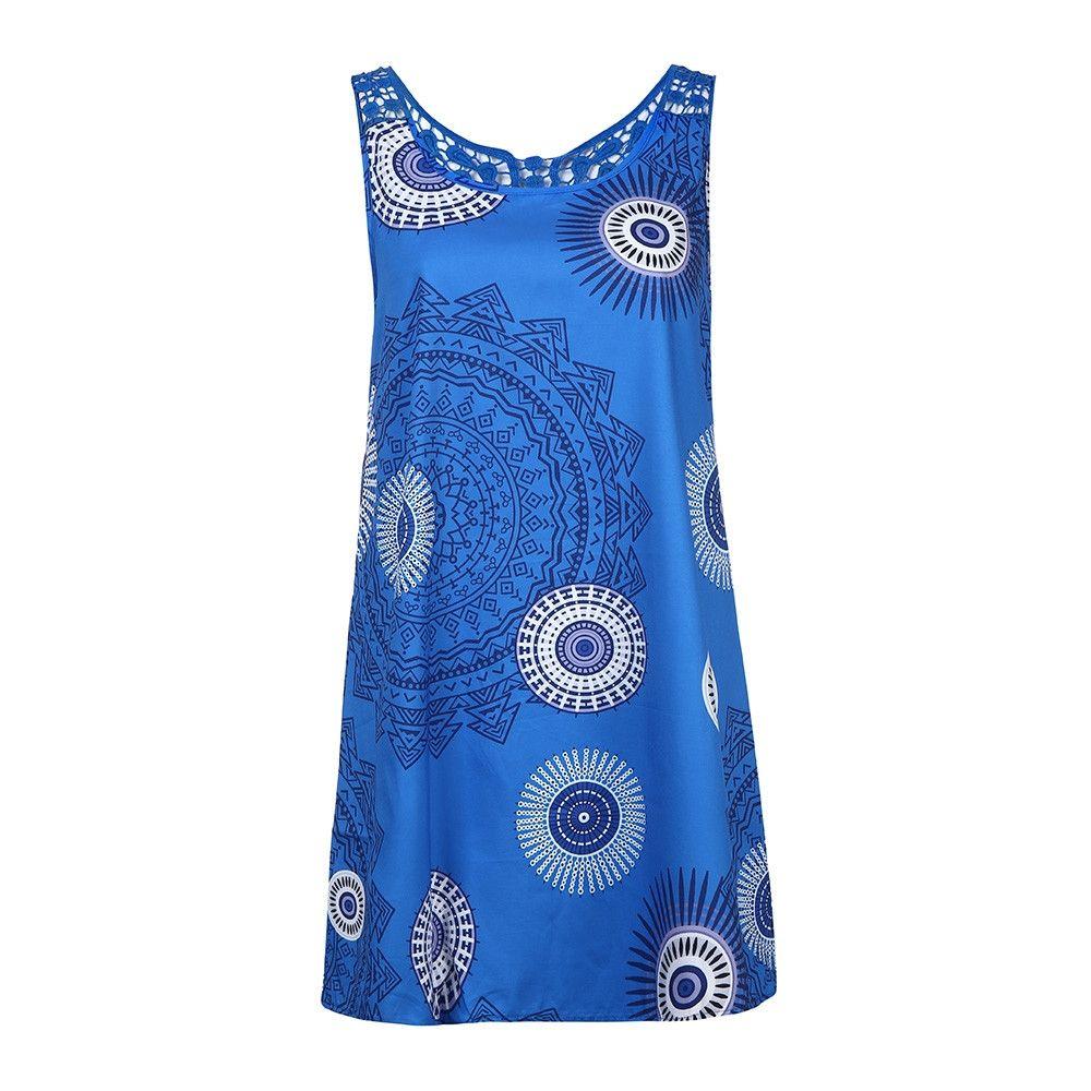 e6b94c31504bf Fashion Africashop Dress High Quality Evening Party Mesh Mini Dress-Blue