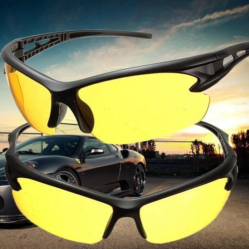 94237c1287 Fashion 5pcs Yellow Lens Night Vision Goggles Sunglasses Driving Riding  Sport Glasses UV400