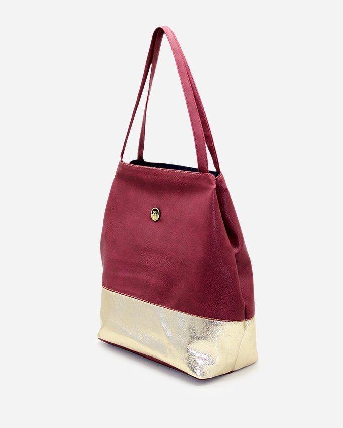 9005162f7 Tata Tio Leather Hand Bag - Maroon | حقائب | كان بكام .كوم
