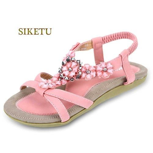 540ce20ae61c52 Siketu Women Bohemia Gladiator Sandals - Pink
