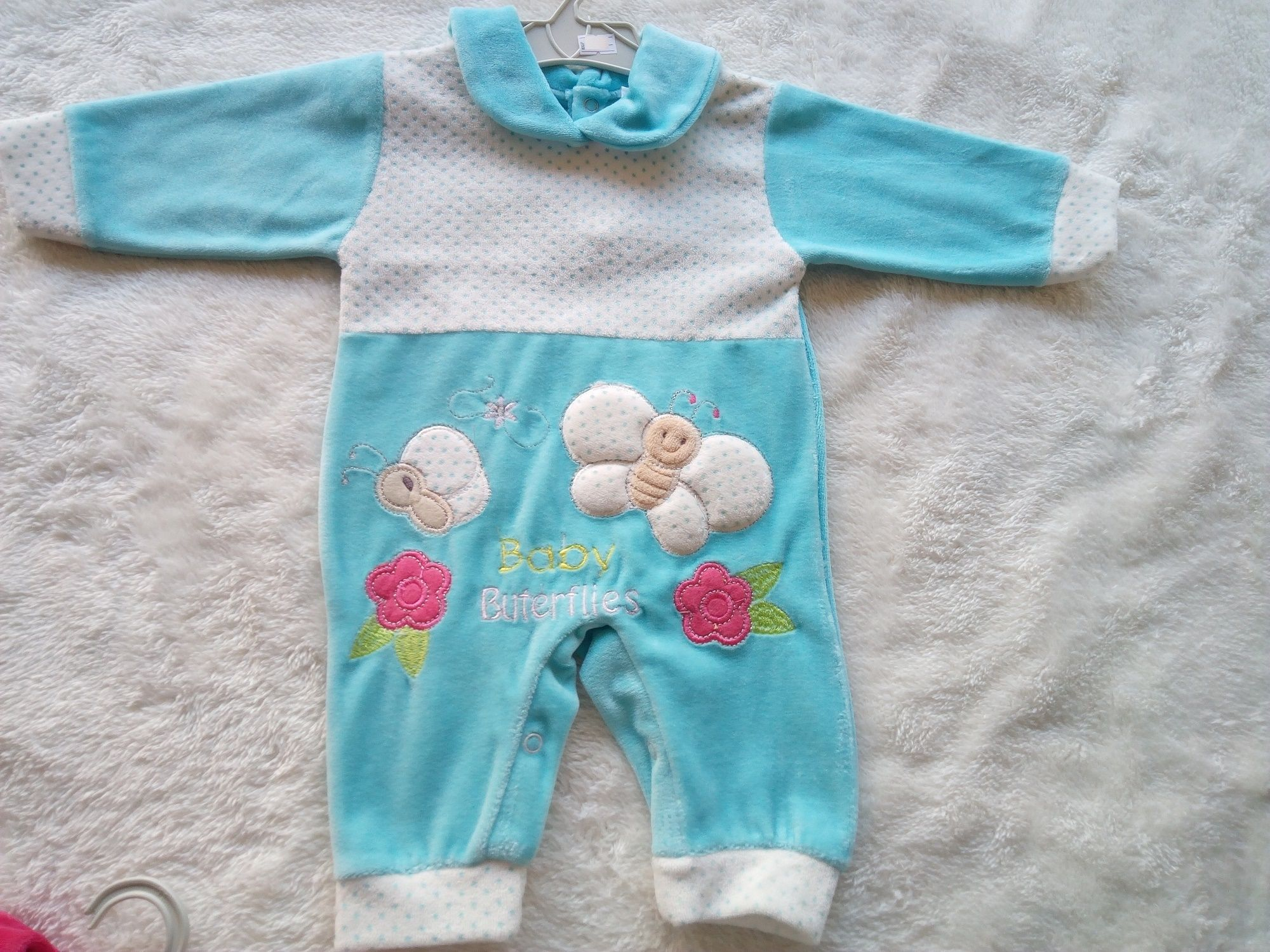306e1d16a Generic Velour Baby Boy Girl Salopette Onesie Footsie Winter clothes ...