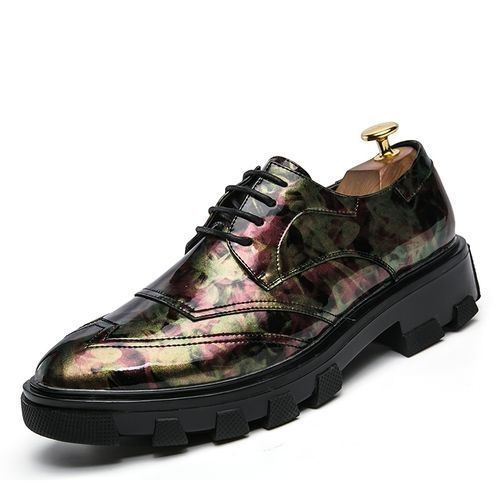 fc1c81a5c Tauntte New Men Formal Leather Shoes Height Increasing Male Casual Shoes  (Pink)