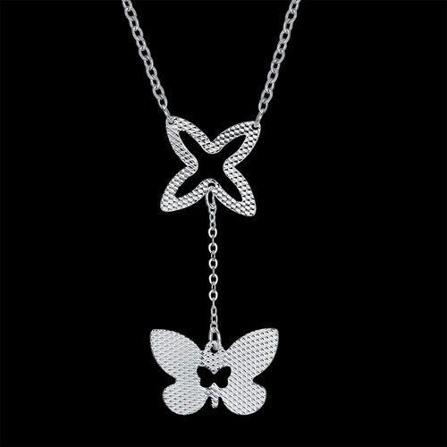 7d662529028c7 Fashion Women`s Bufferfly Shape Silver Necklace. 579.00 جنية مصرى