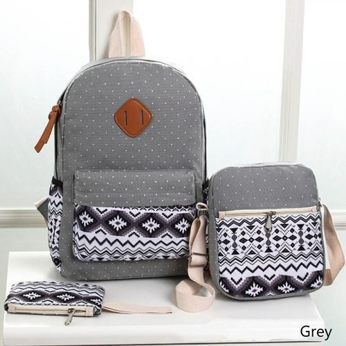 01735cde08d7 Fashion New 3pcs Set Backpack Women Canvas Travel Bookbags School ...