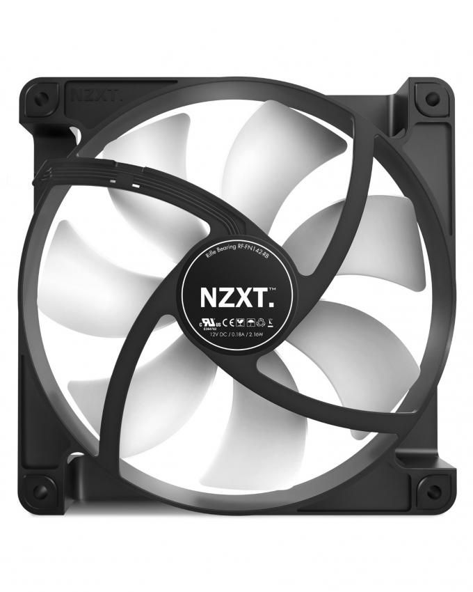 NZXT. FN V2 120mm Performance Case Fan Cooling (RF-FN122-RB)