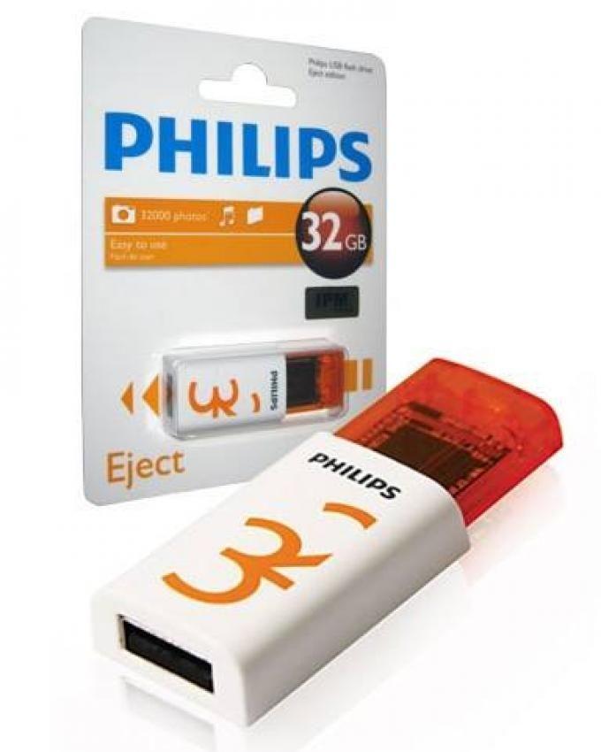 Philips 32GB USB 2.0 Eject Flash Drive