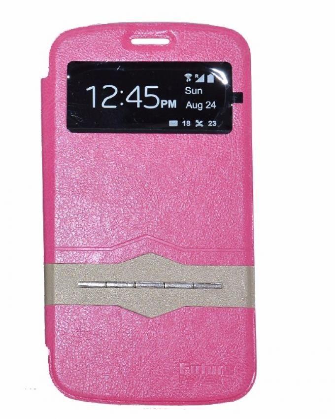 Future Power Flip Cover Sensor For Samsung Galaxy J1 Mini - Pink