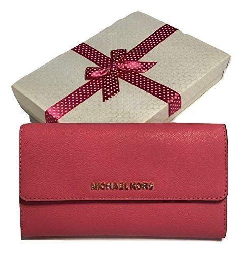 664786857691 US Michael Kors Jet Set Travel Large Trifold Wallet Saffiano Leather ...