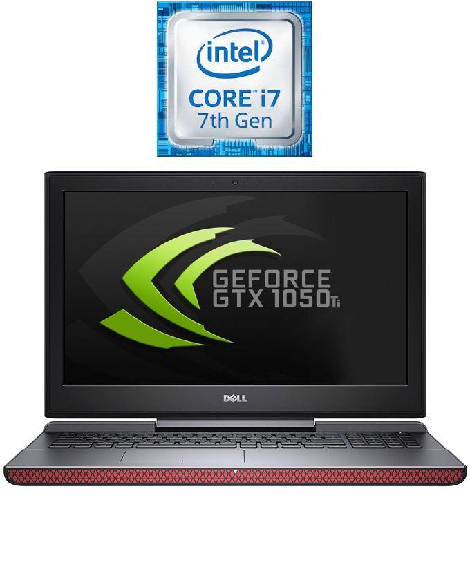 Inspiron 15-7567 Laptop - Intel Core i7-7700HQ - 16GB RAM - 1TB HDD + 128GB SSD - 4GB GPU - 15.6 FHD - Windows 10 - Black