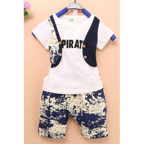 45a3d399fd5b Sunweb Kids Boy Two Pieces False Two-pieces Vest T-Shirt Tank Top ...