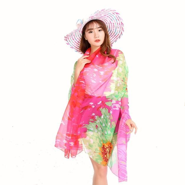 f2cd464c2b50b Eissely Women Chiffon Wrap Pareo Dress Sarong Beach Swimwear Bikini Cover  Up Scarf Hot