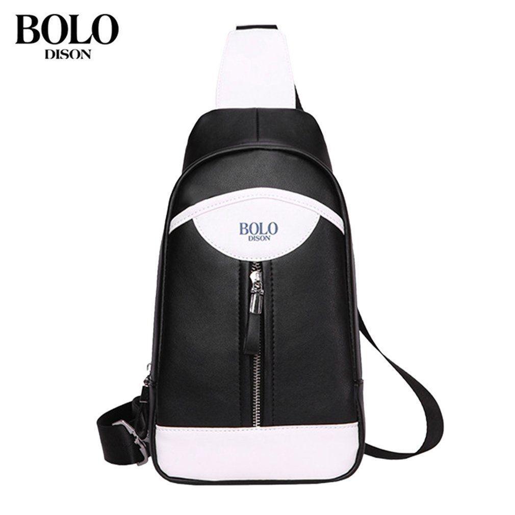 6f7e7e24792 Kokobuy Casual Design Men Soft PU Leather Chest Bag Travel Camping Crossbody  Bag