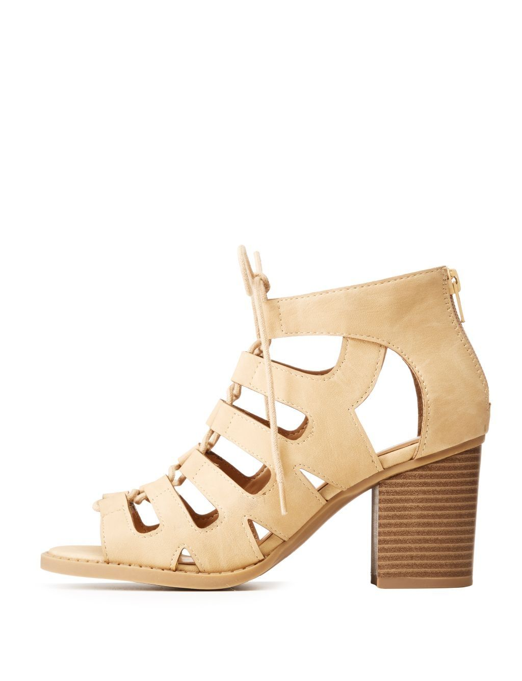 670adeacd05f Buy Charlotte Russe Lace-Up Open Toe Sandals in Egypt