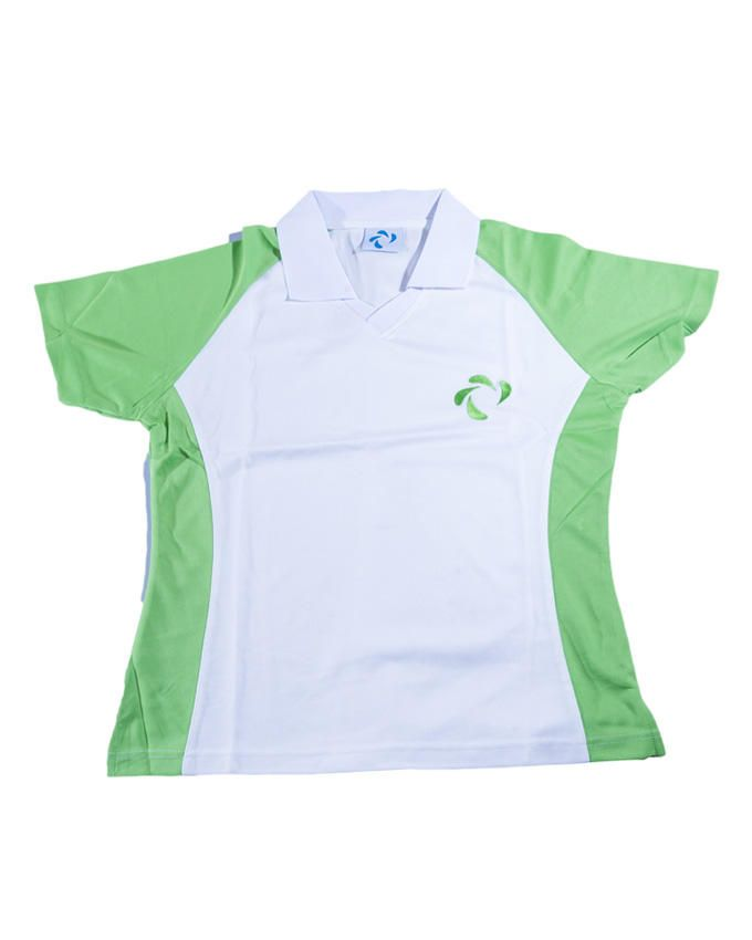 Didos DLPS-006 Women V Neck Polo Shirt - Medium